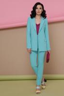 голубой женский пиджак. пиджак Патрик. Цвет: мята в Украине