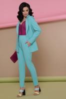 голубой женский пиджак. пиджак Патрик. Цвет: мята недорого