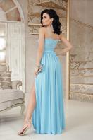 шелковое платье в пол. платье Эшли б/р. Цвет: голубой цена