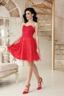 открытое мини платье. платье Эмма б/р. Цвет: красный купить