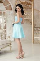 открытое мини платье. платье Эмма б/р. Цвет: голубой цена