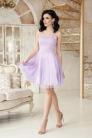 открытое мини платье. платье Эмма б/р. Цвет: лавандовый купить