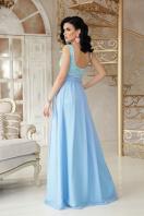 длинное персиковое платье. платье Анисья б/р. Цвет: голубой цена