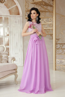 длинное персиковое платье. платье Анисья б/р. Цвет: лавандовый купить