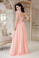 длинное персиковое платье. платье Анисья б/р. Цвет: персик цена