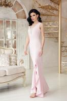 бежевое длинное платье. платье Этель к/р. Цвет: пудра купить