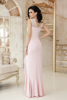 розовое платье с разрезом. платье Этель к/р. Цвет: пудра цена