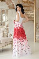платье в пол на выпускной. Красные лепестки платье Анисья П б/р. Цвет: белый купить