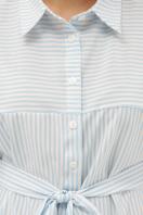платье-рубашка в голубую полоску. платье-рубашка Дарья к/р. Цвет: голубая полоска в Украине