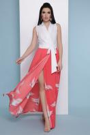 платье с пол с запахом. коралл Аисты платье Асия б/р. Цвет: белый купить