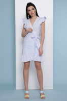 мятное платье в полоску. платье Алсу б/р. Цвет: голубая м.полоска купить