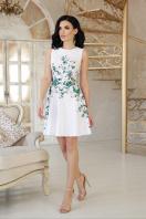 короткое платье с цветами. Маленькие розы платье Альба б/р. Цвет: белый купить