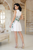 короткое платье с цветами. Маленькие розы платье Альба б/р. Цвет: белый цена
