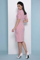 летнее платье в полоску. платье Риана к/р. Цвет: коралл полоска в интернет-магазине