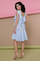 персиковое платье с воланами. платье Шейла б/р. Цвет: голубой в интернет-магазине