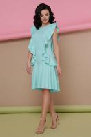 персиковое платье с воланами. платье Шейла б/р. Цвет: мята купить