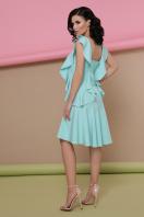 персиковое платье с воланами. платье Шейла б/р. Цвет: мята цена