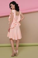 персиковое платье с воланами. платье Шейла б/р. Цвет: персик в интернет-магазине
