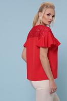 голубая блузка батал. блуза Мелания-Б к/р. Цвет: красный цена