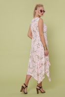 цветастый сарафан больших размеров. сарафан Сабина-Б. Цвет: розовый-цветы орхидеи цена