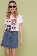 модная женская футболка. Девочки-Очки футболка Boy-2 D. Цвет: белый купить