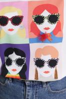 модная женская футболка. Девочки-Очки футболка Boy-2 D. Цвет: белый в Украине