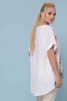 батальная футболка с асимметричным подолом. Перья туника Лиона-Б к/р. Цвет: белый в интернет-магазине