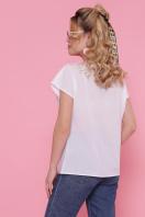 летняя блузка с принтом. Девушка с кругом блуза Мира-2 б/р. Цвет: белый цена
