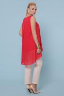 белая майка для пышных женщин. майка Рика-Б. Цвет: красный в интернет-магазине