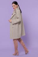 шерстяное пальто в клетку. пальто П-300-90. Цвет: 1101-бежевый в интернет-магазине