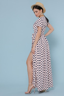 горчичное платье макси. платье Шайни к/р. Цвет: персик-синий горох в интернет-магазине