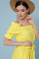 голубое платье с открытыми плечами. платье Бланка к/р. Цвет: желтый в Украине