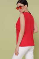 синяя блузка без рукавов. блуза Юлия к/р. Цвет: красный в интернет-магазине