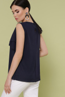 синяя блузка без рукавов. блуза Юлия к/р. Цвет: синий цена