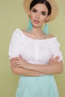белая укороченная блузка. блуза Янина к/р. Цвет: белый в интернет-магазине