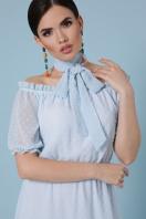 шифоновое лавандовое платье. платье Устинья  к/р. Цвет: голубой в интернет-магазине