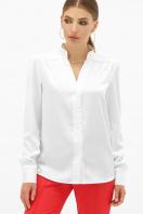 шелковая бежевая блузка. блуза Эльвира-2 д/р. Цвет: белый купить