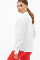 шелковая бежевая блузка. блуза Эльвира-2 д/р. Цвет: белый цена