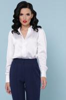 бордовая шелковая блузка. блуза Эльвира-2 д/р. Цвет: белый в интернет-магазине