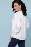 бордовая шелковая блузка. блуза Эльвира-2 д/р. Цвет: белый недорого