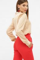 шелковая бежевая блузка. блуза Эльвира-2 д/р. Цвет: бежевый цена