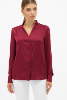 шелковая бежевая блузка. блуза Эльвира-2 д/р. Цвет: бордо купить