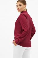 шелковая бежевая блузка. блуза Эльвира-2 д/р. Цвет: бордо цена