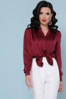 шелковая бежевая блузка. блуза Эльвира-2 д/р. Цвет: бордо в интернет-магазине