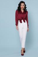бордовая шелковая блузка. блуза Эльвира-2 д/р. Цвет: бордо в Украине