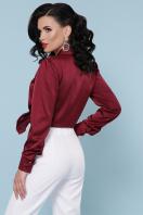 бордовая шелковая блузка. блуза Эльвира-2 д/р. Цвет: бордо недорого