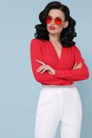 белая блузка-боди. Блуза-боди Карен д/р. Цвет: красный в Украине