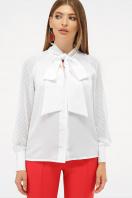 белая блузка с бантом. блуза Эллада д/р. Цвет: белый купить