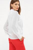 белая блузка с бантом. блуза Эллада д/р. Цвет: белый цена