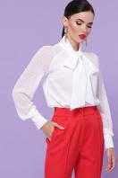 белая блузка с бантом. блуза Эллада д/р. Цвет: белый в интернет-магазине
